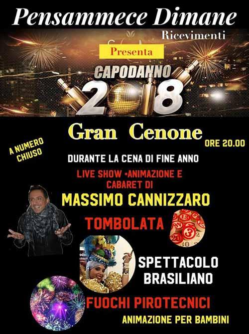 Cenone Di Capodanno 2018 Al Pensammece Dimane Di Casoria