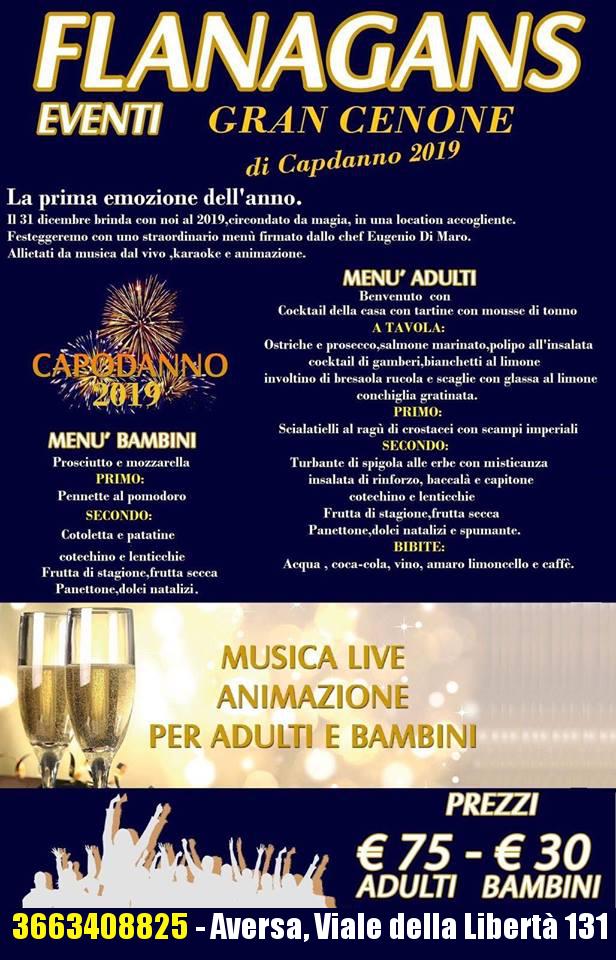 Capodanno 2019 Flanagans Aversa Capodanno Napoli 2020